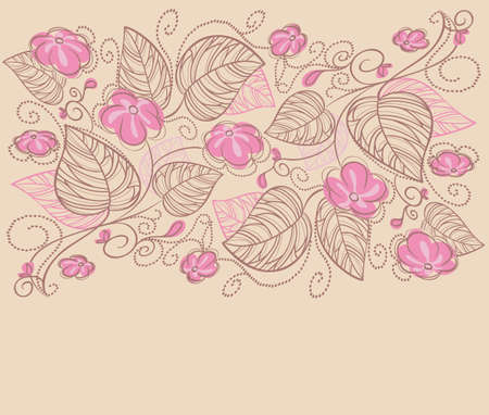 illustration of Floral backgrond Vector