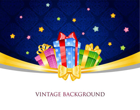 illustration of Colorful gift boxes with bows Vector