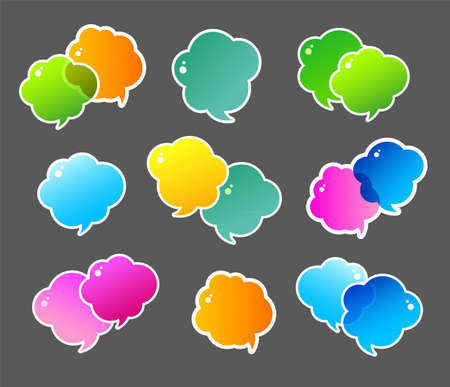 illustration of Color speech bubbles Vector