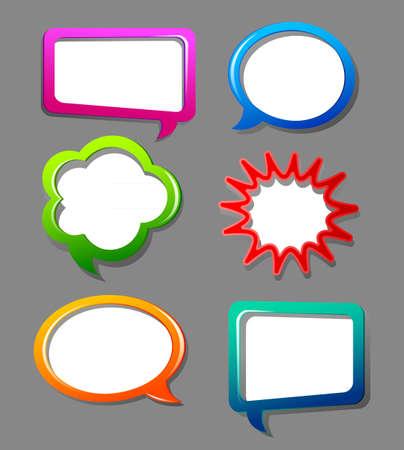 arcoiris caricatura: ilustraci�n de las burbujas del discurso de color