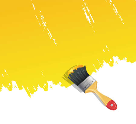Vector illustration of Background with paint brush Vector