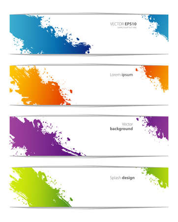 Vector illustration of Splash designs templates