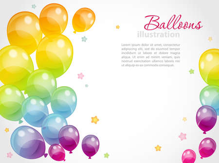 holiday celebrations: illustration of Background with colorful balloons