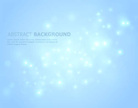 Vector illustration of Blue glowing abstract
