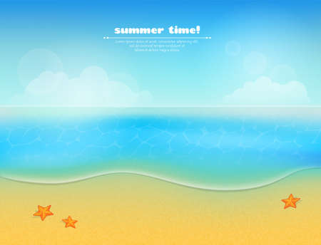 Vector illustration of Summer beach background Stock Vector - 21651011