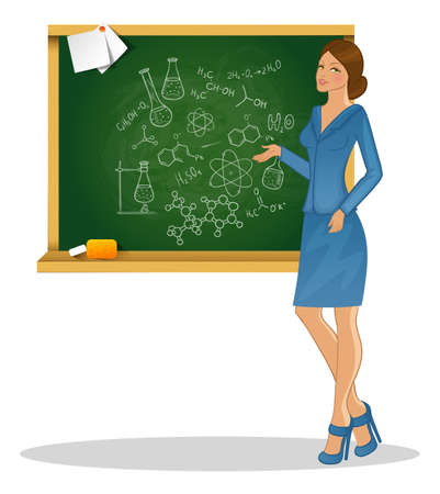 Vector illustration of Beautiful teacher