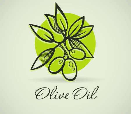 Ilustración vectorial de oliva dibujo a mano