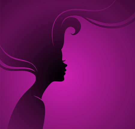 Vector illustration of Womans silhouette