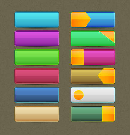 Vector illustration of Colorful buttons Vector