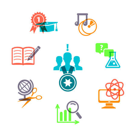 Vector illustration of Education icons set Stock Vector - 22363938