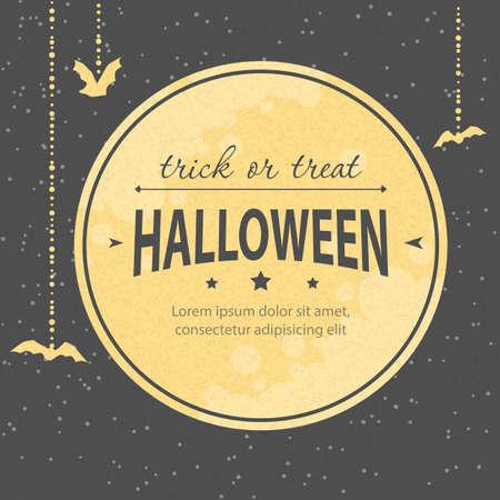 fall background: Vector illustration of Halloween invitation Illustration