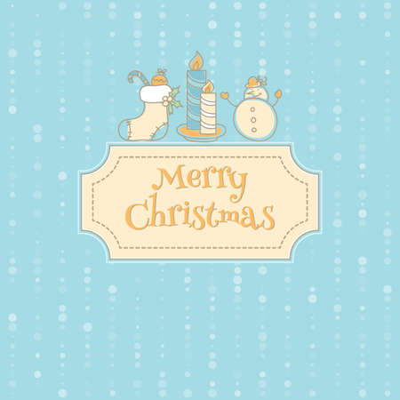 illustration of Xmas objects card Vector