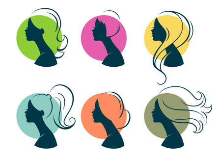 woman face: Vector illustration of Beautiful womans
