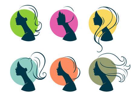 fantasy woman: Vector illustration of Beautiful womans