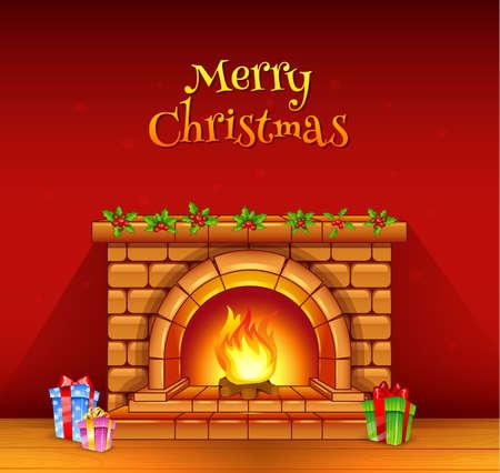 Ilustración vectorial de la chimenea Foto de archivo - 22562278