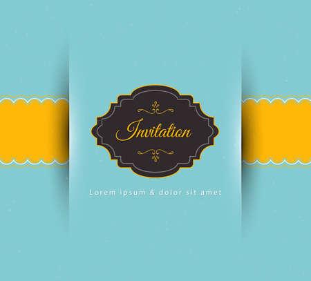 招待状のベクトル イラスト