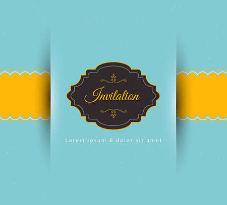 Vector illustration of Invitation
