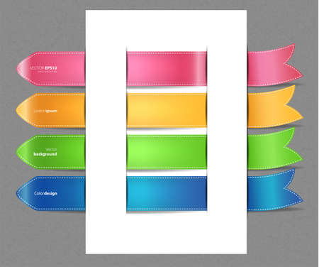 Vector illustration of Set of color stickers Vector