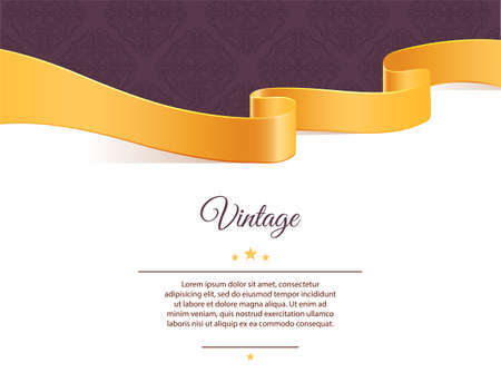 Vector illustration of Vintage template Ilustrace