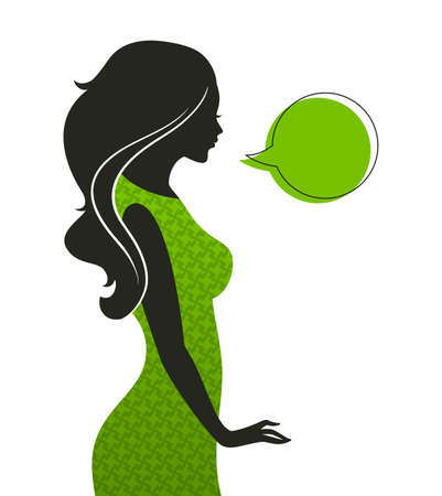 Vector illustration of Womans silhouette Vector