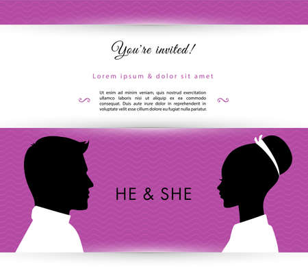 Vector illustration of He & She Vector