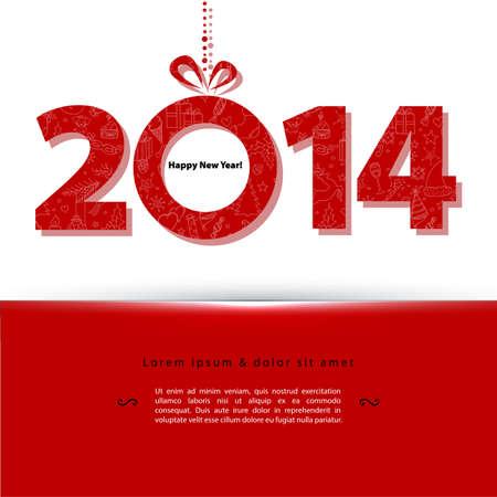 Illustrazione vettoriale del 2014 Anno nuovo Archivio Fotografico - 22631394