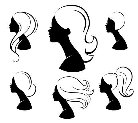 glam: Vector illustration of Beautiful womans