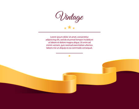 marriage certificate: Vector illustration of Vintage template Illustration