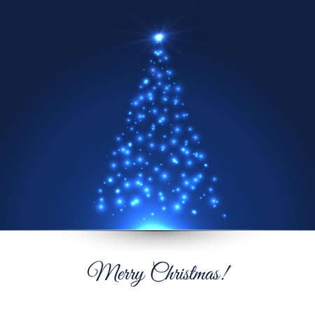 Illustrazione vettoriale di albero di Natale Archivio Fotografico - 22788013
