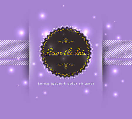 Vector illustration of Save the date Vector