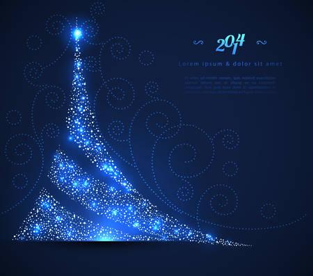 Vector illustration of Xmas tree 일러스트