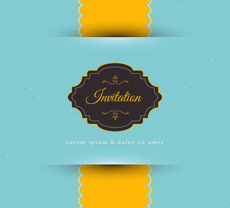 Vector illustration of Invitation Vector