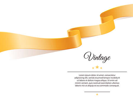 certificate background: Vector illustration of Gold ribbon