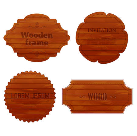 Vector illustration of Wooden frames Vector