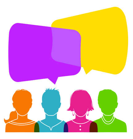 Vector illustration of Dialog people 일러스트