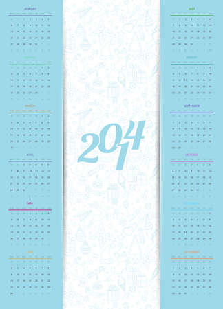 Vector illustration of Calendar 2014 Vector
