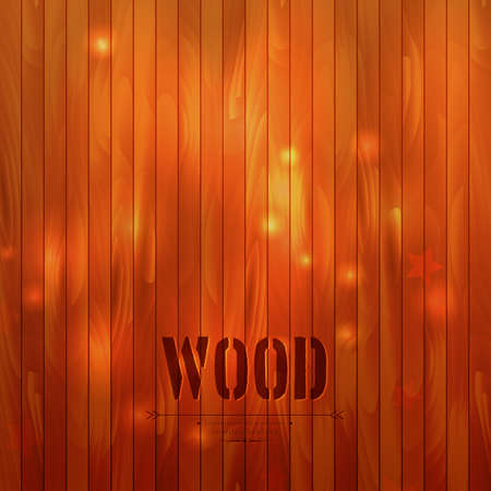 Vector illustration of Wooden background Vector