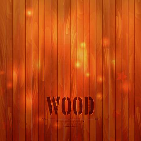 Vector illustration of Wooden background Vector