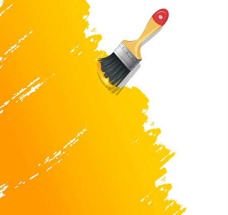 Vector illustration of Paint brush with splash