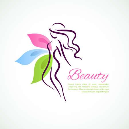 Ilustración vectorial de mujer estilizada Foto de archivo - 26595401