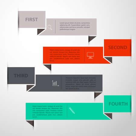 Vector illustration of Design template back Vector