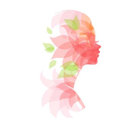 bocetos de personas: Ilustraci�n vectorial de la hermosa mujer Vectores