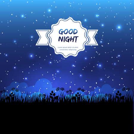 buonanotte: Illustrazione vettoriale di buon design notte