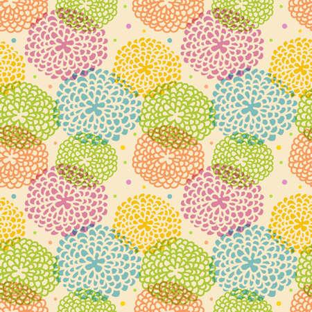 roses wallpaper: Vector illustration of Seamless floral pattern