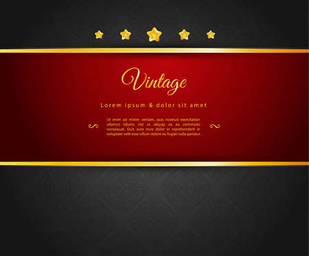 Vector illustration of Dark design template  Vector