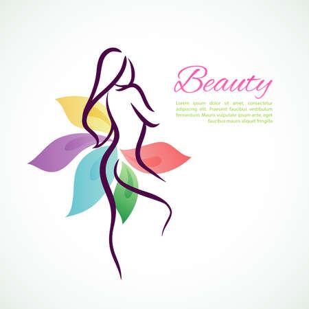 Vector illustration of Beautiful woman   Vector