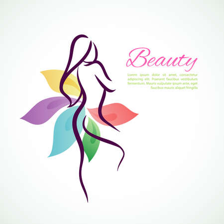 Vektor-Illustration der schönen Frau