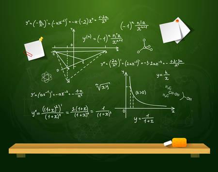 chipboard: Vector illustration of Green school board