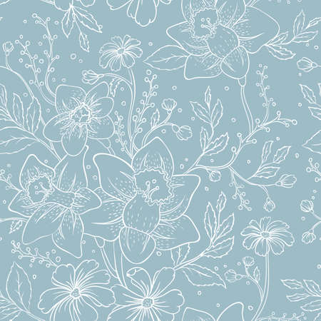 Vector illustration of Seamless floral pattern   Vector