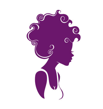 hair spa: Vector illustration of Beautiful woman   Illustration